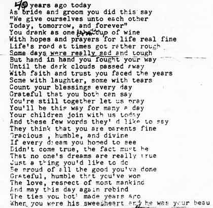 40 wedding anniversary funny poems